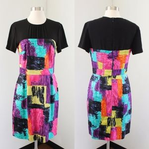 Trina Turk Rainbow Contrast Dress